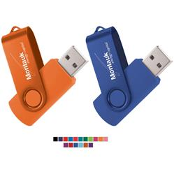 Rotate 2-Tone Custom Flash Drives and USB Memory Promotional Product