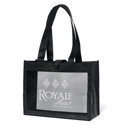 Royale Mesh Panel Tote Bags customized with your logo by Adco Marketing