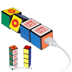 Rubik's Custom Power Bank with a 2600 mAh lithium ion battery