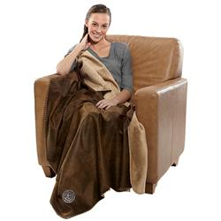 Rustic Ranch Throw Blanket in Faux Leather - Custom Embroidered