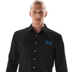 Men's Embroidered Logo Dress Shirt