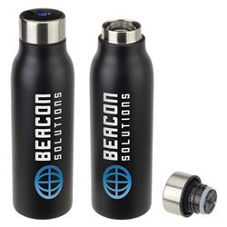 Senso Vacuum Insulated Bottles with Termperature Gauge on the Cap and Custom Logo