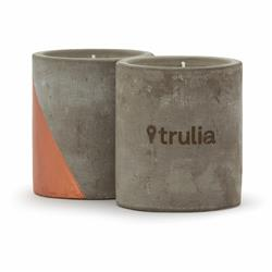Serenity Concrete Candle with Copper Accent Laser Etched