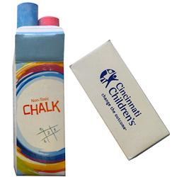 Jumbo Sidewal Chalk in Custom Box, Promotional Sidewalk Chalk Box