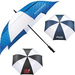 "64"" Slazenger™ Champions Vented Auto Golf Umbrella with a custom promotional logo"