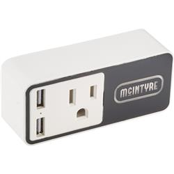 WiFi Smart Plug with Light Up Logo and Dual USB Port - for Alexa and Google Home