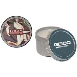 Soy Candle Tins with a promotional custom imprint in a 2 oz. size.