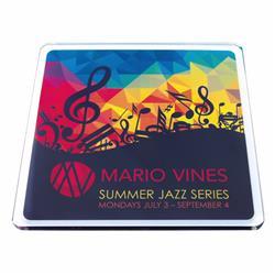 Full Color Imprint Square Acrylic Coasters
