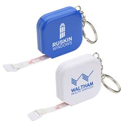 Square 5' Foot Tape Measure Key Chain