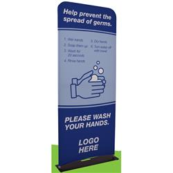 3' EuroFit Banner Display Kit - Great for Covid-19 Signs