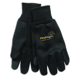 Technology Gloves with touchscreen finger tips and a cusotm full color imprint