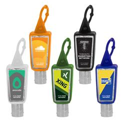 1 oz.Trapezoid Hand Sanitizers Silicone Sleeve with Made in USA Fill and Custom Label