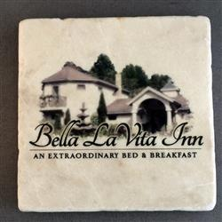 Tumbled Stone Coasters - Italian Botticino Marble with full color imprint