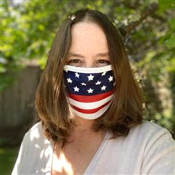 Flag Made in USA Face Masks with Full Color Logo