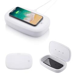 UV Phone Sanitizer with Wireless Charger White