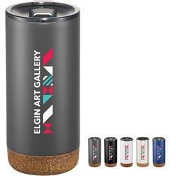 Valhalla Copper Vacuum Tumbler with Cork 16oz customized with your logo