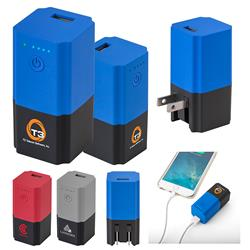 Cuperino Charge USB wall charger and power bank combo