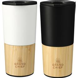 Welly 16 Oz Copper Bamboo Vacuum Insulated Tumblers