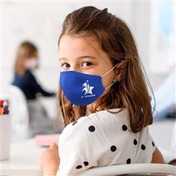 Youth and Child Size Double Layered Cotton Face Mask with Filter Pocket and Cutom Imprint