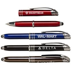 Zentrio Multi Function Pen with Pen, Stylus and LED Light and your logo